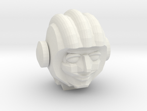 Cosmonaut Head - FREE DOWNLOAD! in White Natural Versatile Plastic