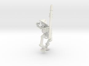Character Series: Skeleton Peasant 2 in White Natural Versatile Plastic