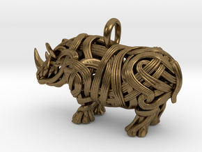 The Rhino Pendant  in Natural Bronze