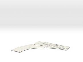 Double turnout Concrete Left HO scale  in White Natural Versatile Plastic