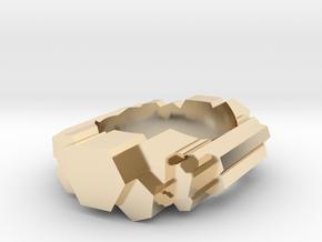 Hexagonal Columns Ring in 14k Gold Plated Brass: 4.5 / 47.75