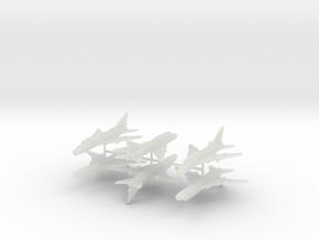 1/300 Sukhoi Su-22 (x6) in Smooth Fine Detail Plastic