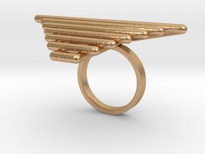Hindi Ring in Natural Bronze: 5 / 49