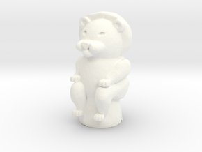 Lion Game Token in White Processed Versatile Plastic