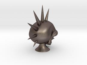 Hawk Skull in Polished Bronzed Silver Steel
