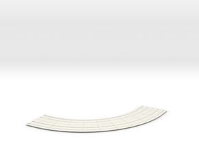 HO dbl street track curves 8 rad  in White Natural Versatile Plastic