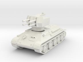 T-34 Flakpanzer 1/100 in White Natural Versatile Plastic