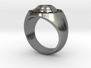 Man's ring Tri County Trap 925 Silver in Polished Silver