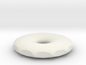 small hole rodin coil 50x50x8,76mm DIY in White Natural Versatile Plastic
