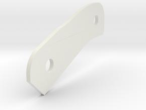 P-Hard B 1mm Spacer in White Natural Versatile Plastic