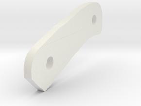 P-Hard B 2mm Spacer in White Natural Versatile Plastic