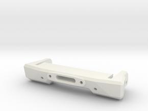 Front Compact Bumper 70 in White Natural Versatile Plastic