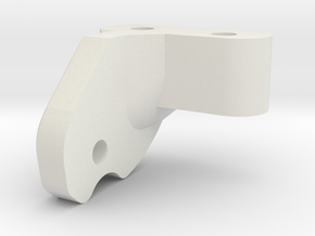 Servo Mount Rear in White Natural Versatile Plastic