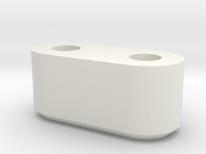 8mm spacer in White Natural Versatile Plastic
