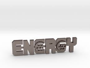 energy-Gear2 in Polished Bronzed-Silver Steel