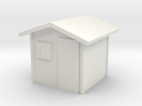 Garden Shed 1/64 in White Natural Versatile Plastic