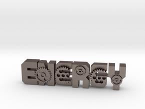 energy-Gear3 in Polished Bronzed-Silver Steel