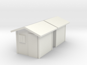 Garden Shed (x2) 1/144 in White Natural Versatile Plastic