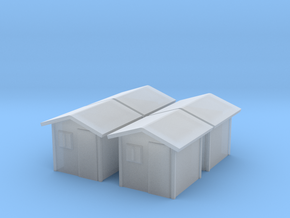 Garden Shed (x4) 1/200 in Smooth Fine Detail Plastic