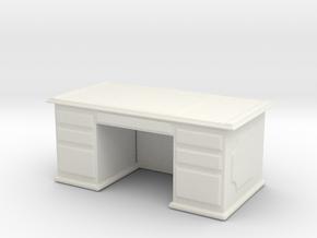 Office Wood Desk 1/76 in White Natural Versatile Plastic