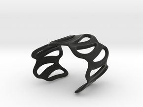 sinuous bracelet 64 in Black Natural Versatile Plastic