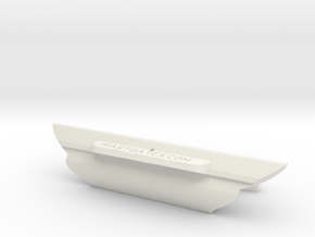 DM5, Melbec, Slot= 92mm in White Natural Versatile Plastic