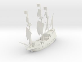 Wreck of Marie de la Cordelière in White Natural Versatile Plastic: 1:500