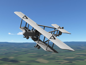 Farman F.40 (various scales) in Gray PA12: 1:144