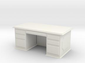 Office Wood Desk 1/12 in White Natural Versatile Plastic