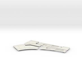 2020 DBL TURNOUT 60 LEFT in White Natural Versatile Plastic