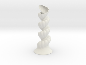 Vase 2000 in White Natural Versatile Plastic