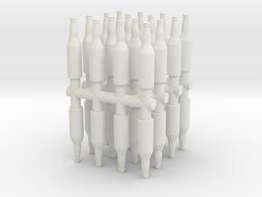 12 Oz Beer Bottle (x32) 1/24 in White Natural Versatile Plastic