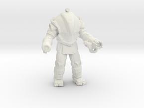 Aliens Exosuit Berserker miniature game 3inch tall in White Natural Versatile Plastic