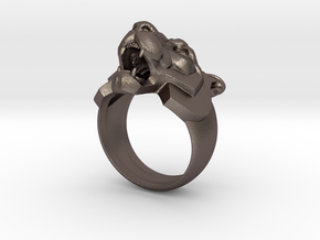 Tiger Face Ring jewelry in Polished Bronzed-Silver Steel: 10 / 61.5