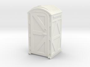 Portable Toilet 1/24 in White Natural Versatile Plastic