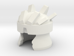 Robohelmet: Extinct Fudge in White Natural Versatile Plastic