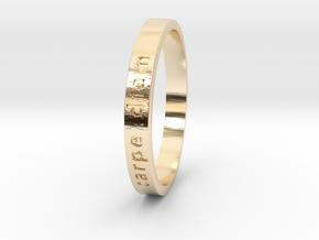 Carpe Diem in 14K Yellow Gold: 6 / 51.5