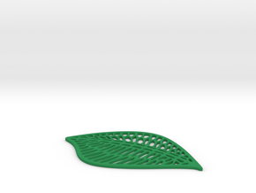 Leaf Drink Coaster in Green Processed Versatile Plastic