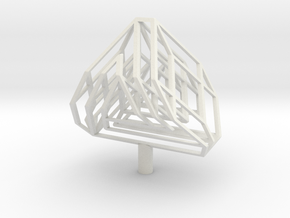 Three Bar Cube in White Natural Versatile Plastic