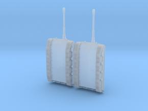 1:144 Miniature E100 Tanks in Smooth Fine Detail Plastic: 1:144