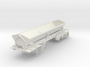 000487 Side Dumper 1 40fus 3a HO in White Natural Versatile Plastic: 1:87 - HO