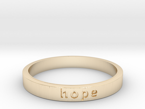 Hope in 14k Gold Plated Brass: 6 / 51.5