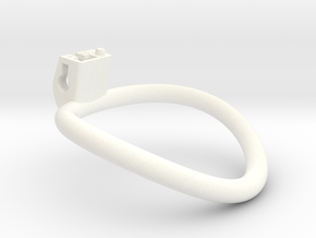 Cherry Keeper Ring - 63mm +2° in White Processed Versatile Plastic