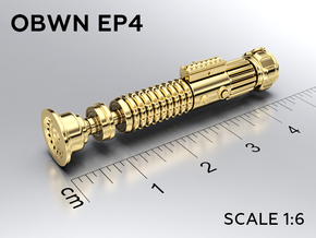 OBWN EP4 keychain in Natural Brass: Medium