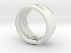 Bird Ring-Sky (Purchase with Bird Ring - Bird) in White Natural Versatile Plastic: 7 / 54