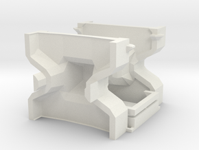 1:50 Accropode 9t-2.98m mould kit complete in White Natural Versatile Plastic