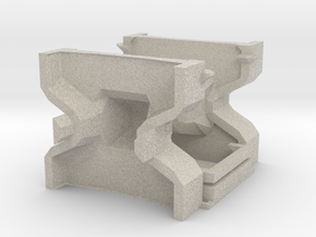 1:50 Accropode 9t-2.98m mould kit complete in Natural Sandstone