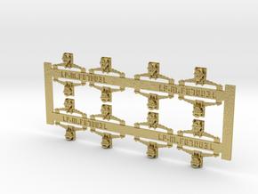 Suspensions boites pour essieux wagons PO époque 1 in Natural Brass