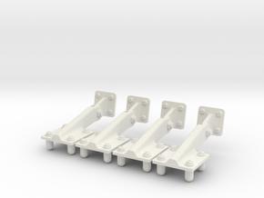 1/6.CHARNIERES SOUTE EC OUVERTES EC 145  in White Natural Versatile Plastic