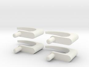 1.6 POIGNEES DE PORTES EC 145 X4 in White Natural Versatile Plastic